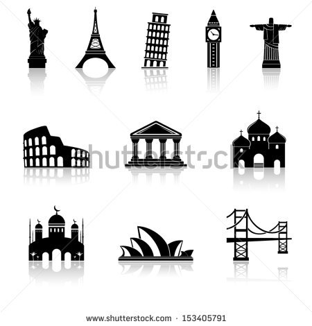 World Famous Landmarks Stock Images, Royalty.