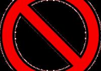 International No Symbol Clipart.
