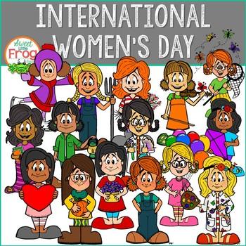 International Women's Day Clip Art Set.