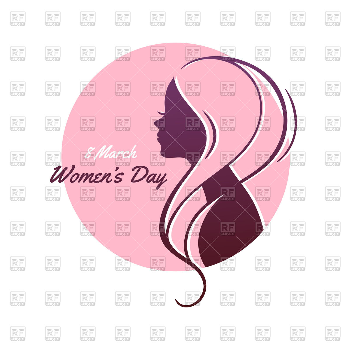 Silhouette of woman with pink hair.