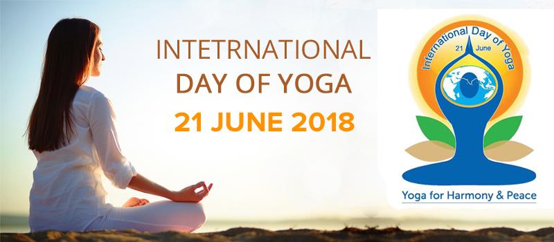 Logo of International Yoga Day.