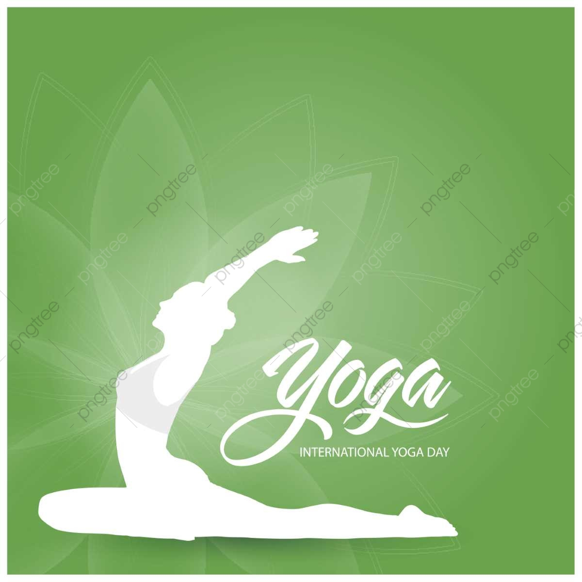 International Yoga Day Card Vector Yoga Day, Yoga, International.