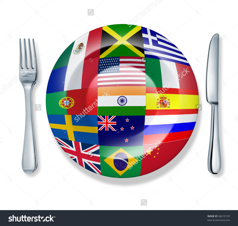 International Cuisine Clipart.
