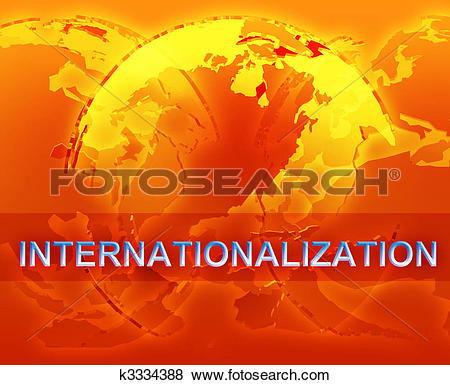 Stock Illustration of Internationalization globalization.