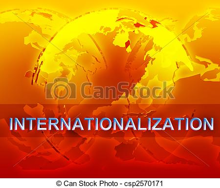 Clipart of Internationalization globalization illustration.