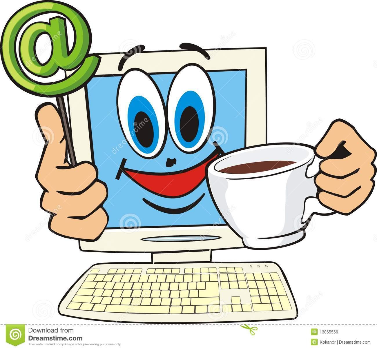 Internet cafe stock vector. Illustration of computer.
