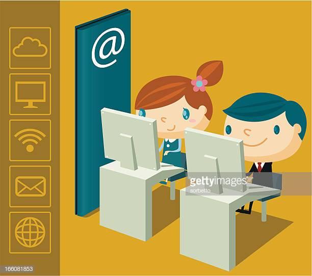 43 Internet Cafe Stock Illustrations, Clip art, Cartoons & Icons.