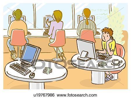 Internet cafe clipart 2 » Clipart Portal.