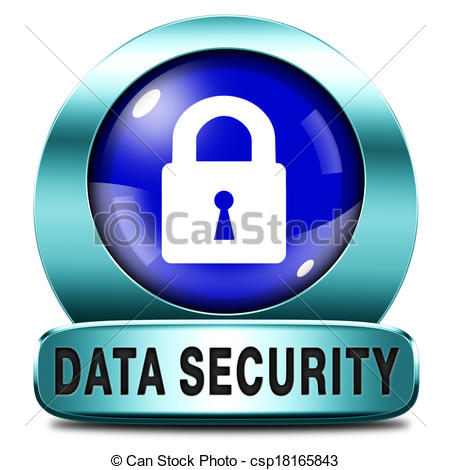 Drawing of data security and internet safety protect online.