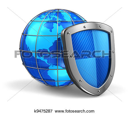 Clipart of Database and computer data security concept k9746911.
