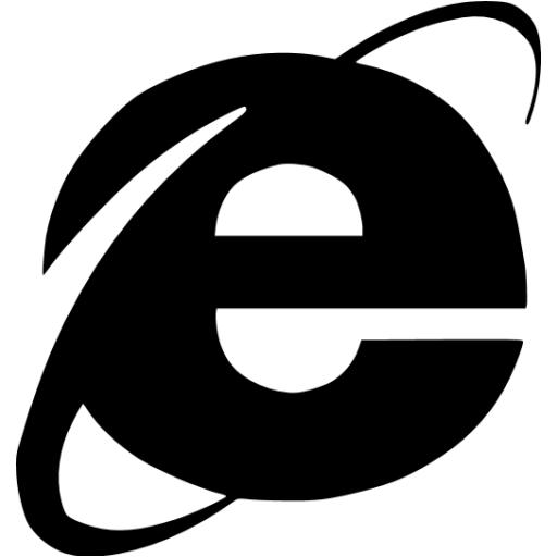 Internet Explorer Clipart Black And White.