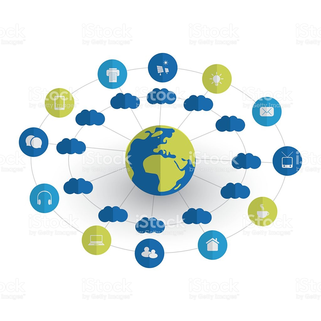 Cloud Computing Internet Of Things Design Concept With Icons stock.