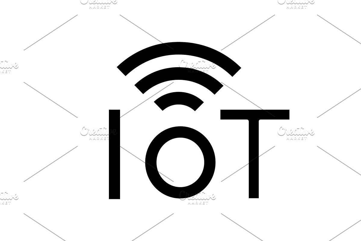 Internet of things glyph icon.