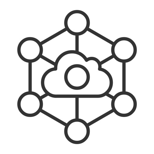 Cloud, internet, internet of things, iot icon.