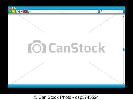 EPS Vector of internet web browser blue slider.