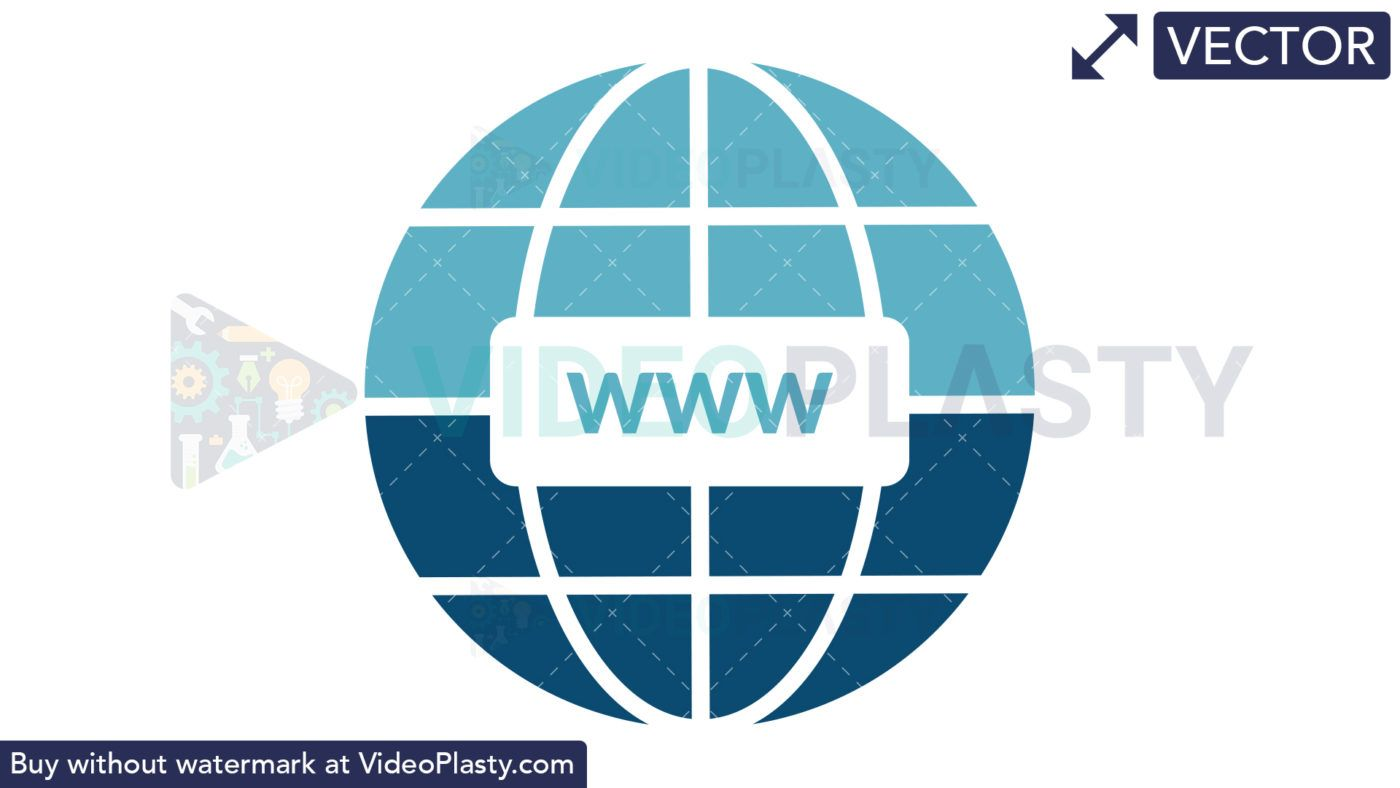 Internet World Wide Web Icon in 2019.