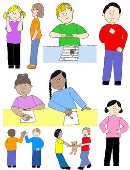 Kids in Action: Social Skills and Pragmatic Language Visuals 1.