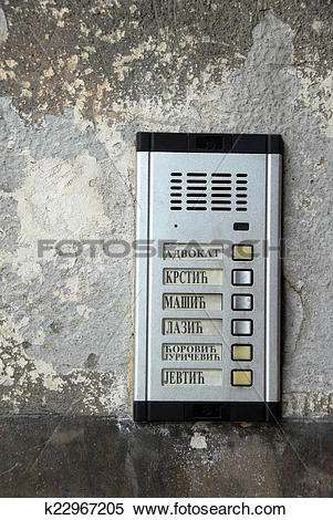 Stock Image of Interphone with serbian surnames k22967205.