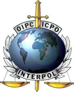 Interpol Logo ?????????? Sword through the earth.