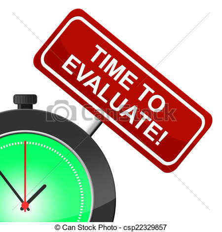 Stock Illustrations of Time To Evaluate Means Interpretation.