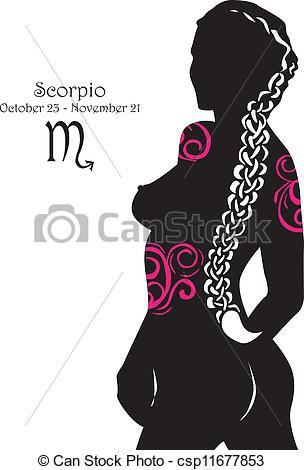 Clipart Vector of Silhouette of a girl interpretation.