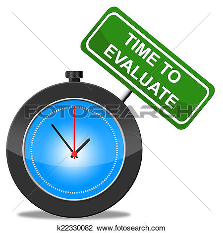 Clip Art of Time To Evaluate Shows Evaluation Interpretation And.