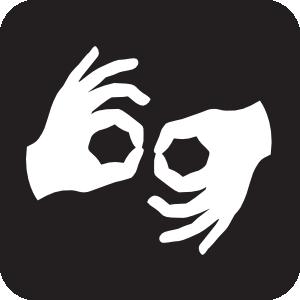 Sign Language Interpretation Black Clip Art at Clker.com.