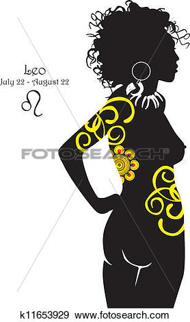 Clip Art of Silhouette of a girl interpretation k11653929.