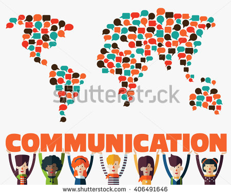 World Map Made Colorful Speech Bubbles Stock Vector 330456173.