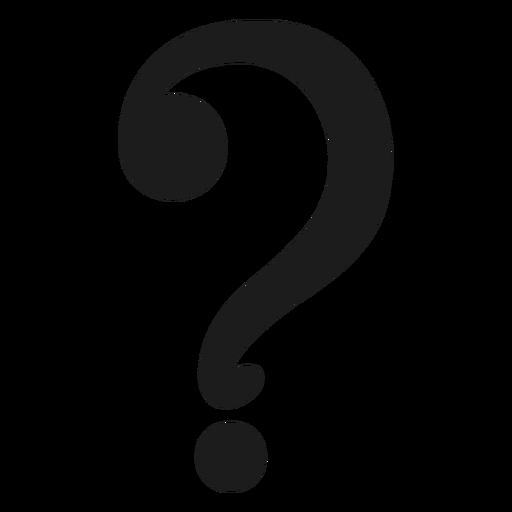 Vetor de símbolo de ponto de interrogação.