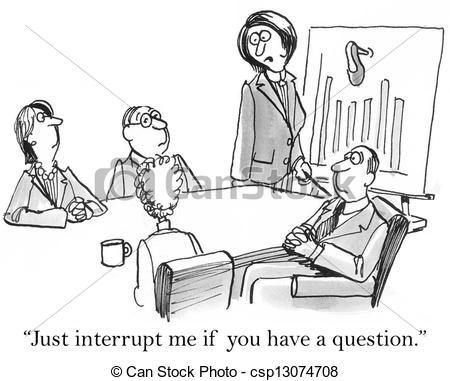Interruption clipart.