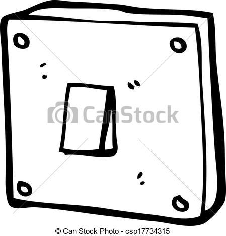 Vector Clip Art of cartoon light switch csp17734315.