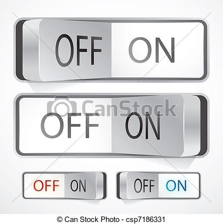 Vector Clip Art of Toggle switch.