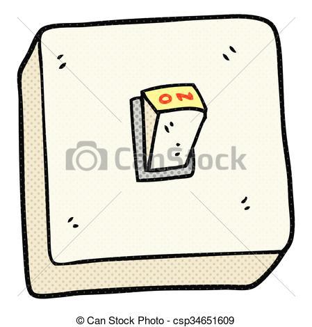 Vector Clip Art de luz, interruptor, caricatura.