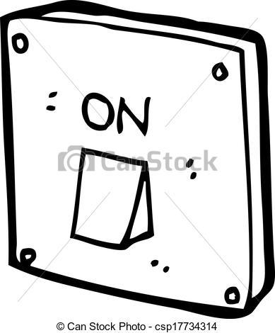 Vector Clip Art of cartoon light switch csp17734314.