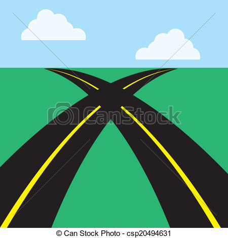 Vectors of Roads Intersecting.