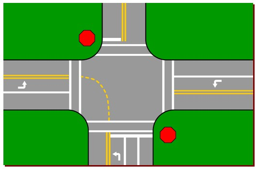 Intersection Clipart.