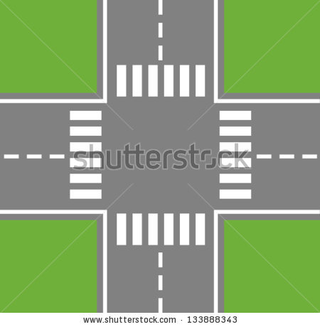 Road Intersection Clipart.
