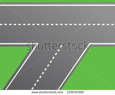 Road Intersection Road Vector Stock Vector 123034309.