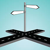 Clip Art of Road Intersection k14307309.