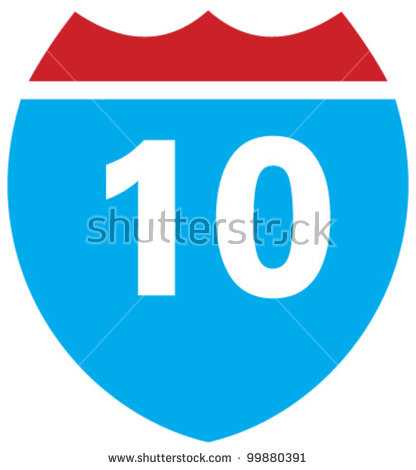 Interstate 10 Stock Images, Royalty.