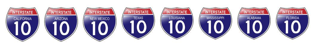 Louisiana Highway Sign Royalty Free Stock Photo.