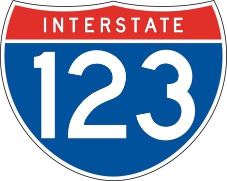 Interstate 123 Sign Board, Clip Art.