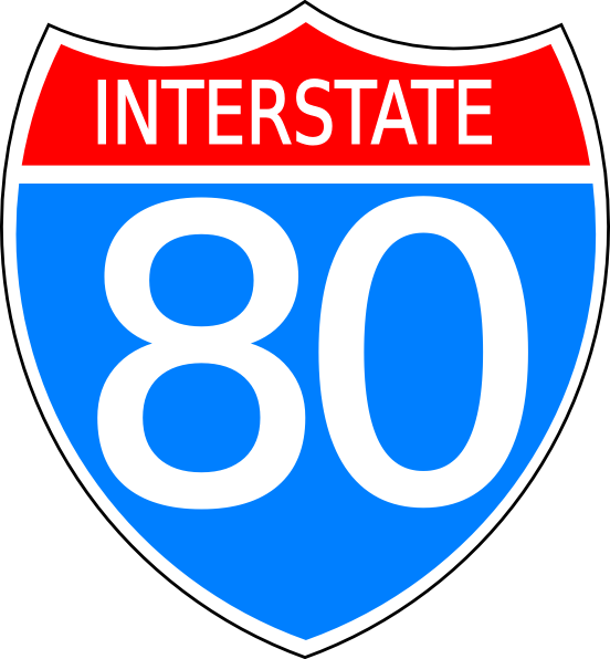 Interstate Sign Clipart.