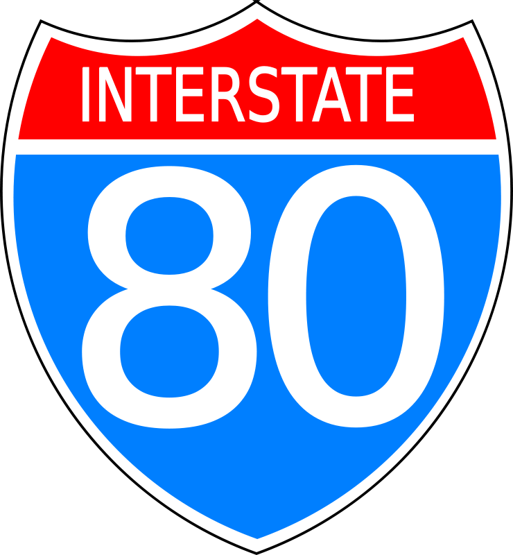 Free Clipart: Interstate highway sign.