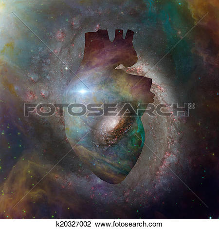 Clip Art of Interstellar Heart k20327002.