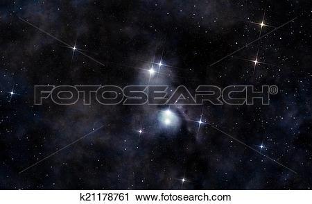 Clipart of Interstellar cloud in deep space k21178761.