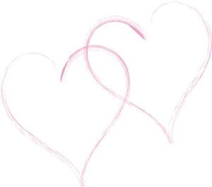 Two Hearts Design Clipart.
