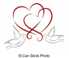 Clipart two hearts intertwined.