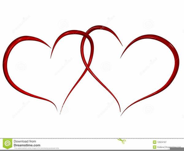 Free Intertwined Hearts Clipart.